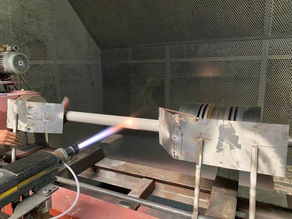 piston rod thermal spray coating