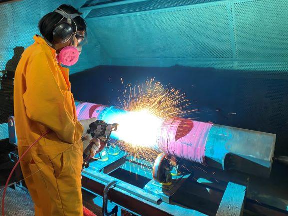 shaft thermal spray coating